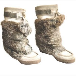 Coach Maryann Fur Trim Boots